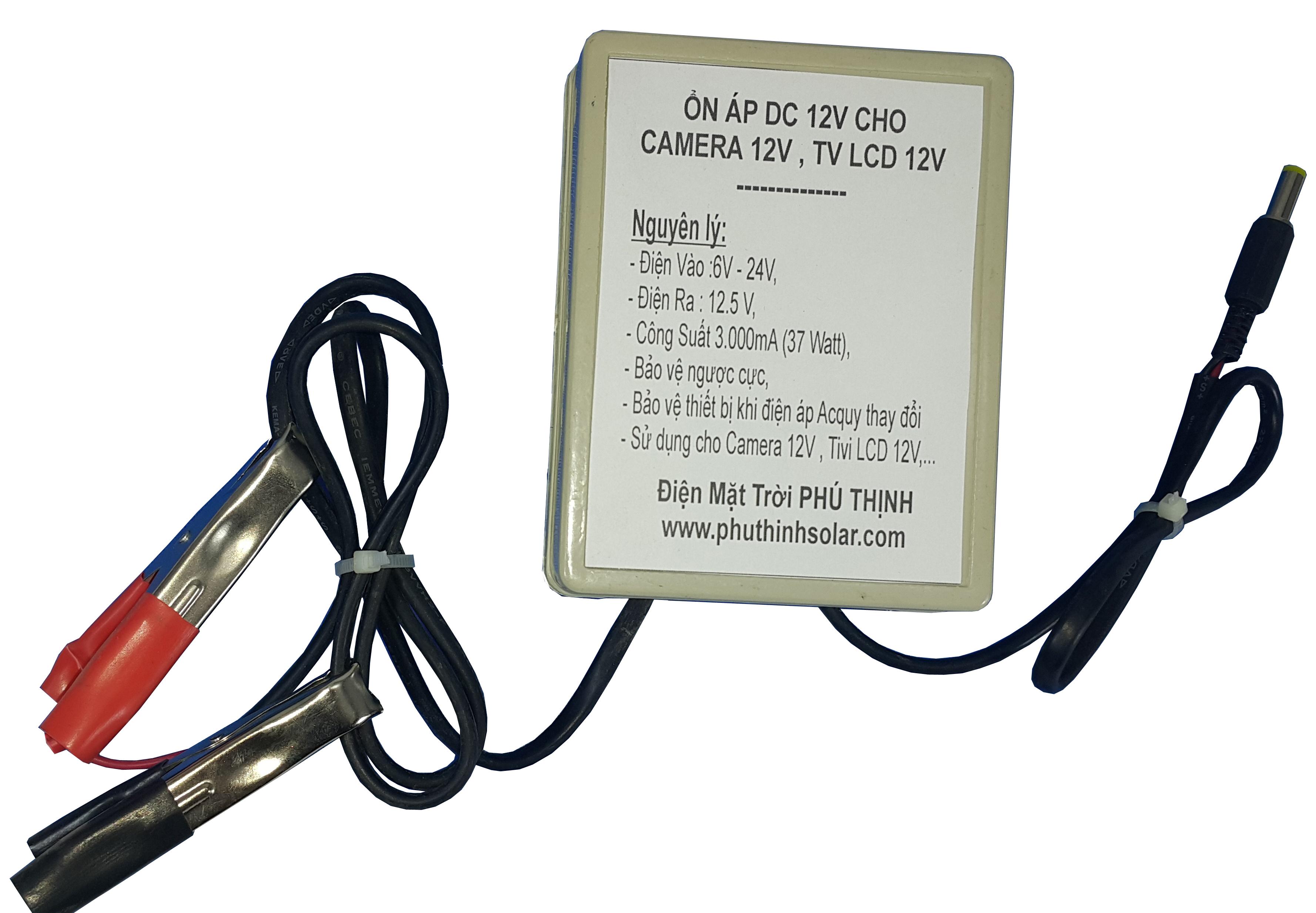 Ổn Áp DC 12V Cho Camera 12V và TV LCD 12V