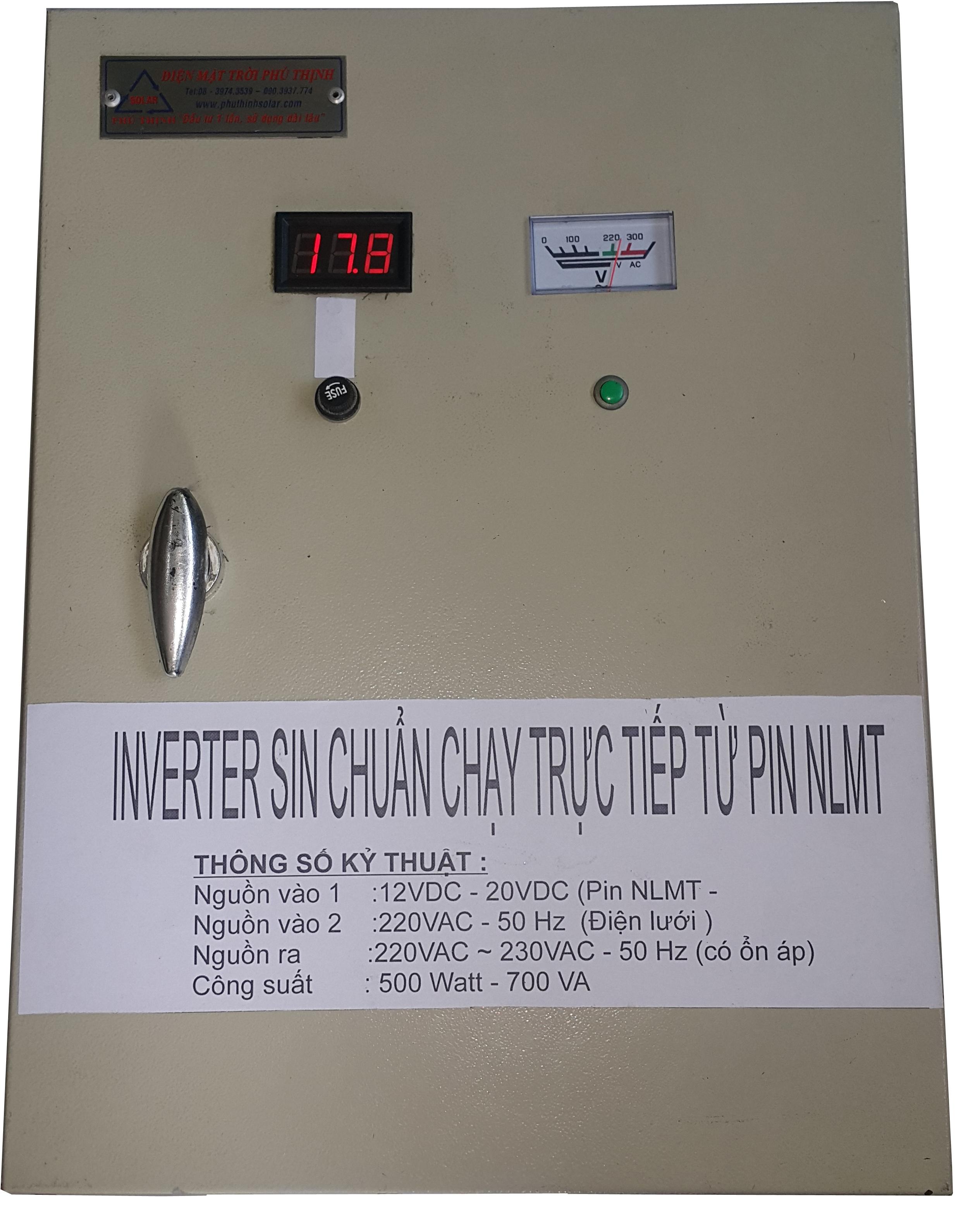 Inverter Sin Chuẩn Chạy Trực Tiếp Từ Pin NLMT