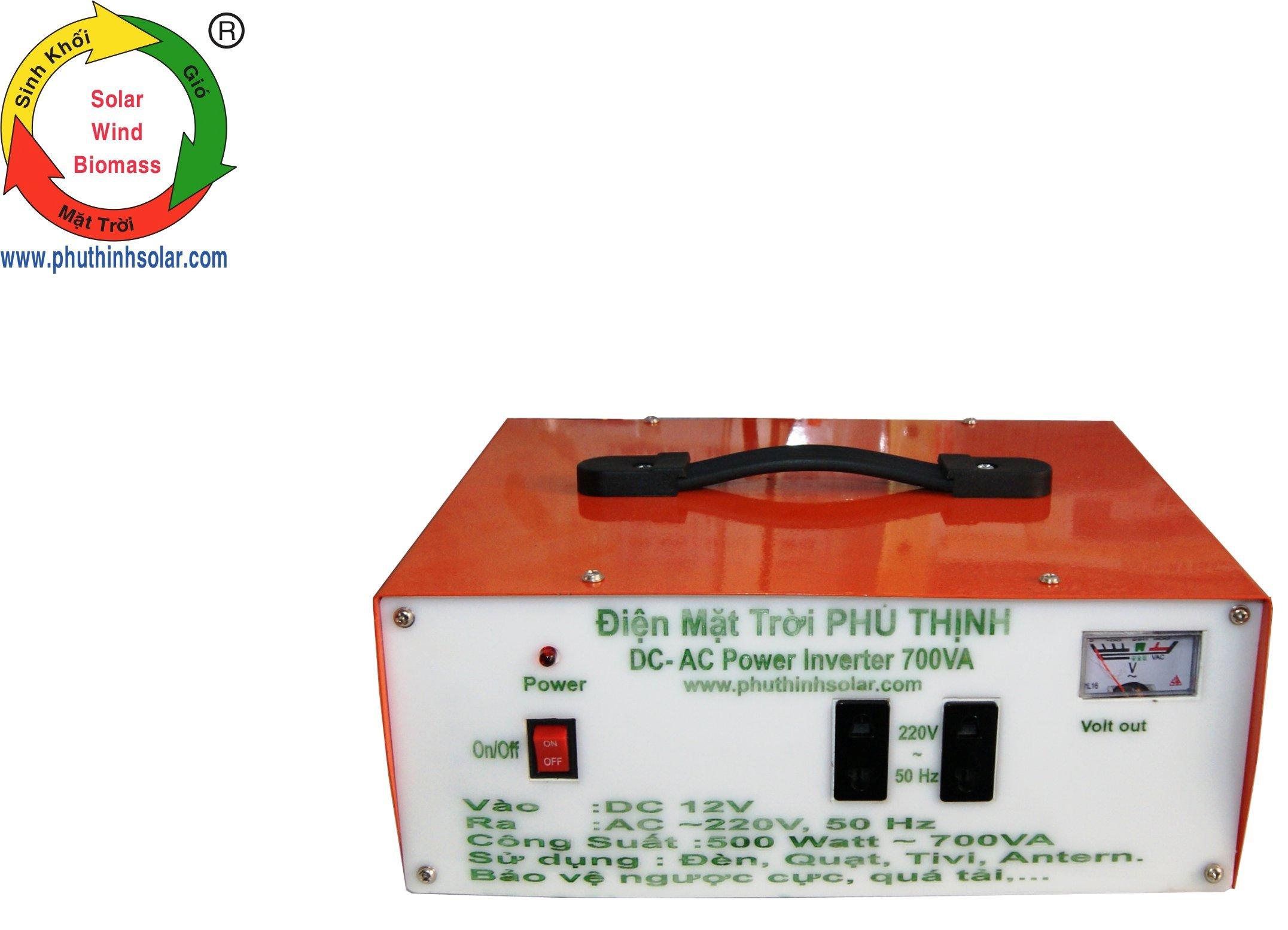 CHUYỂN ĐỔI ĐIỆN 12V/24V DC – AC 220V INVERTER SIN 500W – 700VA