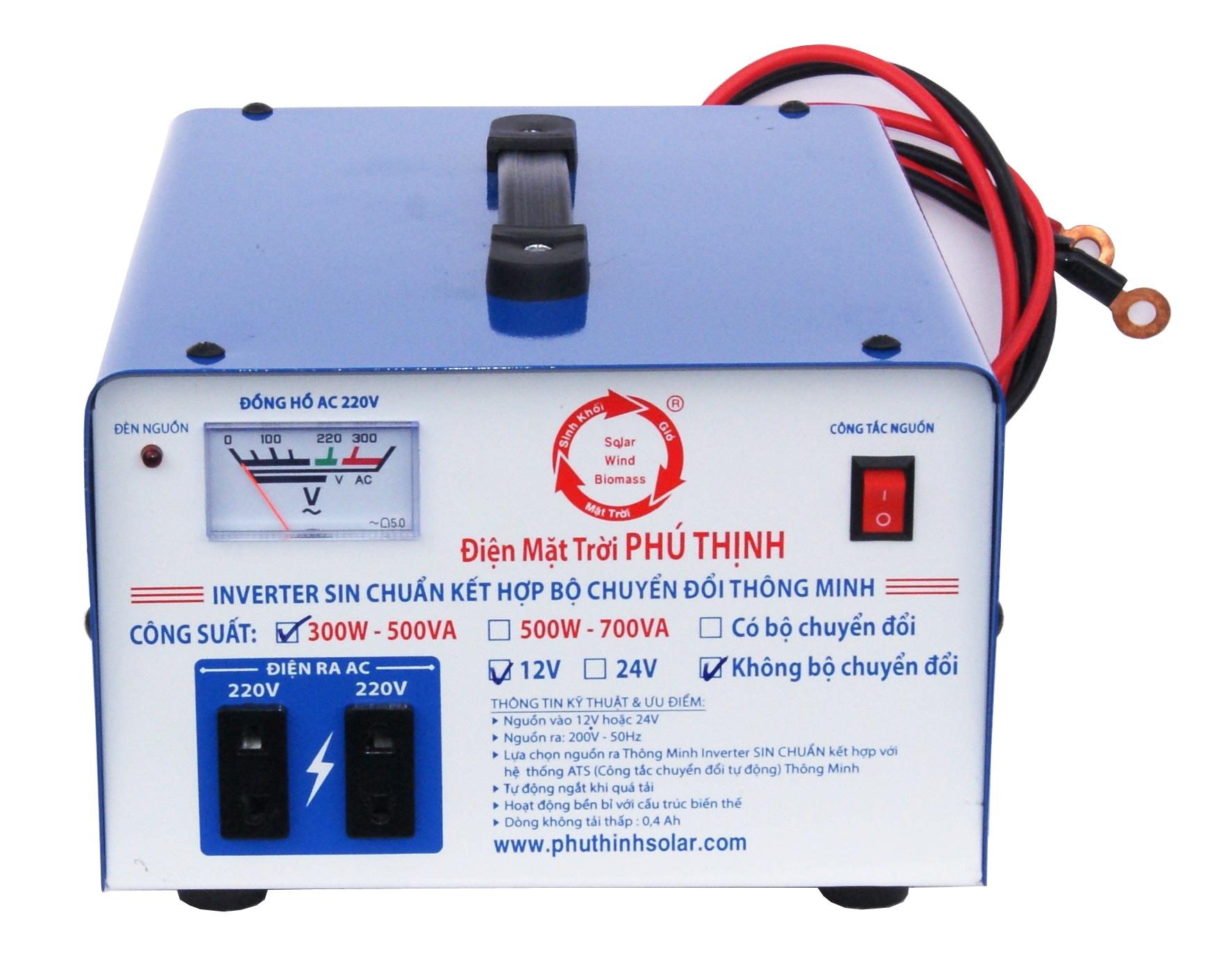 Inverter Sin Chuẩn 12V / 24V 500VA - 700VA