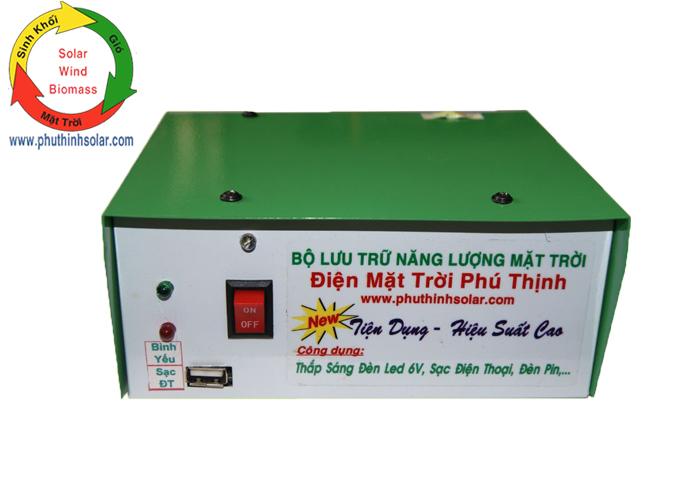 Bộ lưu trữ điện NLMT 6W