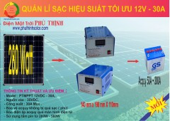 Quản lý sạc hiệu suất tối ưu 12V – 30A