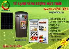 tủ lạnh năng lượng mặt trời